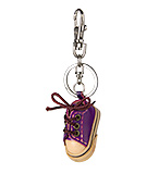 Purple Leather Keychain - Tennis Shoe