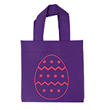 Mini Purple Tote Bag with Egg Design