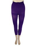 Purple Footless Capri Tights