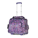 Purple Paisley Rolling Carry on Luggage