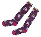 Purple Unicorn Socks - Winging it