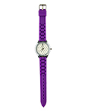 Purple Jelly Watch with Quilted Rhinestone Face