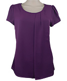 Purple Pleated Top