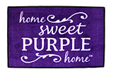 """Home Sweet Purple Home"" Door Mat"