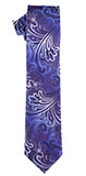 Color Change Purple/Blue Paisley Tie Set
