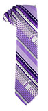 Purple Multi-Patterned Tie and Hankie Set
