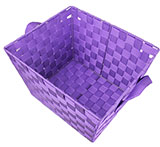 Purple Woven Storage Basket