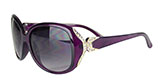 Purple Sunglasses with Gold and Rhinestone Detailing