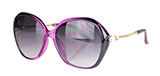 Purple Round Sunglasses with Teardrop Rhinestone