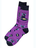 Purple D.J. Cat Socks