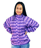 Purple Stripe Windbreaker