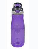 Wide Mouth Auto-Spout Purple Water Bottle