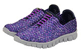 Woven Purple Athletic Shoes