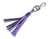 Two-Toned Purple Tassel Keychain