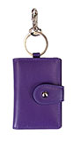 Purple Card Holder Keychain