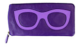 Purple Eyeglass Case with Glasses Decoration