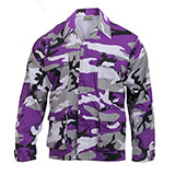 Purple Camo Button Down Shirt
