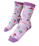 Women's Purple Mushroom Socks