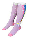 Purple Unicorn Rainbow Blast Women's Knee high