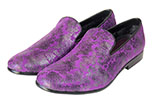 Men's Purple Paisley Slip-On Shoes