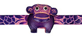 Purple Leather Bracelet -  Monkey