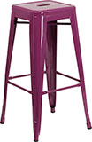 "Purple Indoor/Outdoor Backless 30"" Stool"