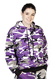 Purple Camo Pullover Hooded Sweatshirt