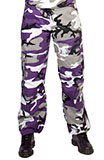 Womens Purple Camo Pants
