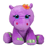 Plush Purple Sparkly Hippo