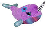 Plush Sparkly Purple Narwhal