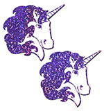 Purple Glitter Unicorn Pasties
