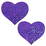 Purple Glitter Heart Pasties