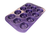 Purple 12 Cup Muffin Pan