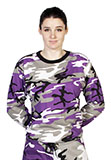 Unisex Long Sleeve Purple Camo T-Shirt