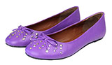 Studded Purple Ballet Flats