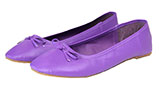 Solid Purple Ladies Ballet Flats