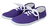 Purple Cotton Tennis Shoes