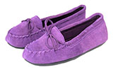 Purple Women's Leather Moccasins