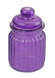Mini Glass Purple Jar with Lid