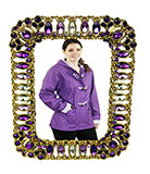 Purple and Gold Pewter Photo Frame