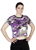 Purple Camouflage Crop Top