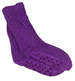 Women's Bright Purple Shea Butter Socks