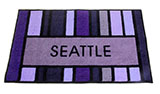 Purple Seattle Door Mat