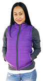 Faux Fur Reversible Purple Vest for Juniors