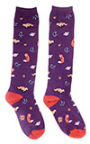 Purple Fox Socks