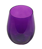 Iridescent Purple Stemless Wine Glasses