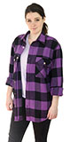 Men's Purple Plaid Flannel Shirt