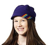 Purple Hat With Rainbow