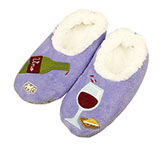 Women's Wine O Clock Lilac Slippers