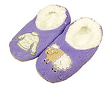 Women's Purple Sheep Sweater Slippers